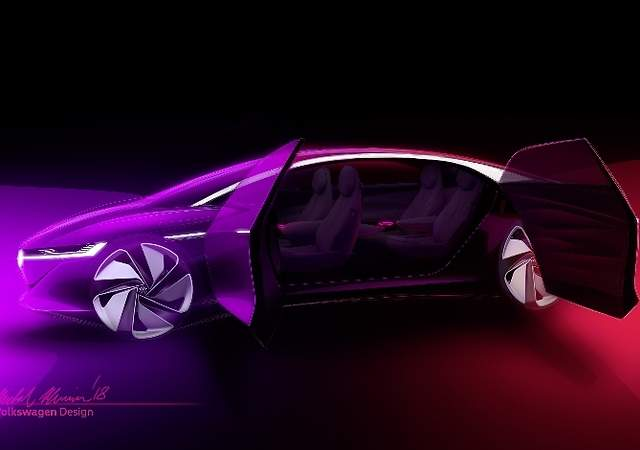 Volkswagen I.D. Vizzion: la lujosa berlina eléctrica sin volante