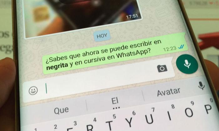 Whatsapp mejora con texto enriquecido podr escribir en for Como se escribe beta