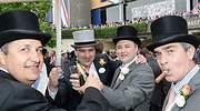 El día que fui a Ascot: un buen grupo de lores y ladies (muy) ebrios con sombrero de copa y pamela