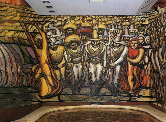 David alfaro siqueiros creador de una nueva dimensi n for Arte mural mexicano