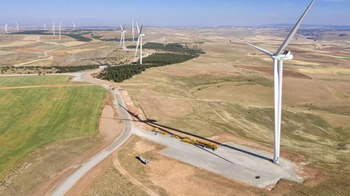 Enel Green Power España conecta el parque eólico de mayor potencia de los que se construyen en Aragón