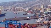 Vista de Valparso Chile desde el puerto