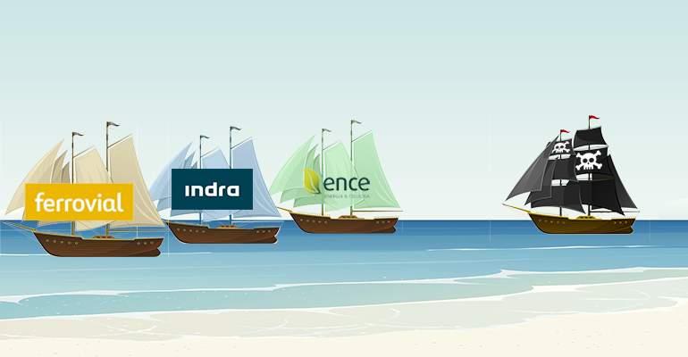 Los bajistas atacan a Ence, Indra y Ferrovial: aflojan en Cellnex y Bankia