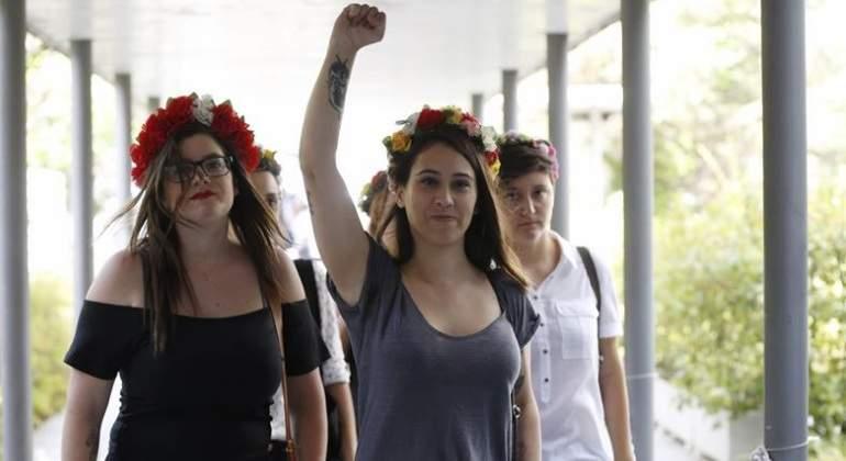 Absueltas las activistas de Femen que se desnudaron en una manifestación antiabortista