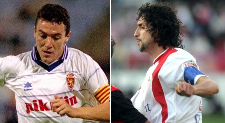 Pablo Alfaro y Xavi Aguado celebran la roja de Sergio Ramos
