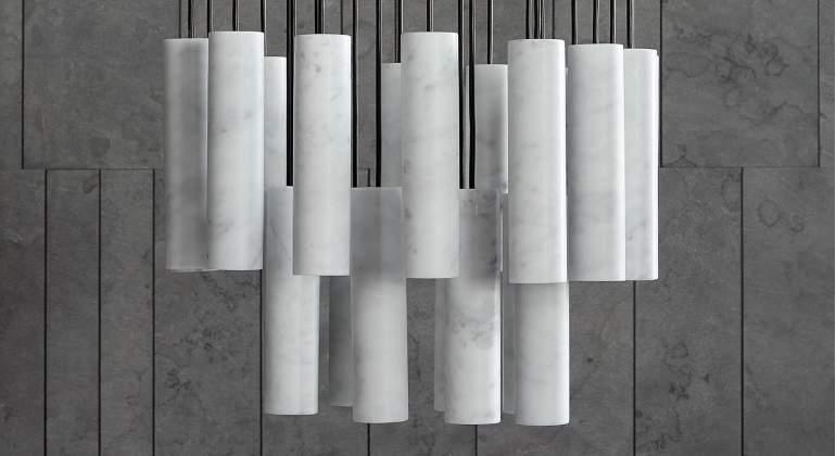 Diseño de mármol Salvatori, Salone del Mobile de Milano.
