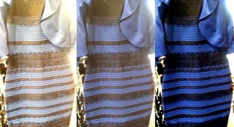 Que es el vestido negro y azul