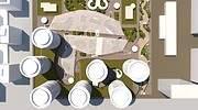 Vista area del proyecto de ADU para Mestalla EE