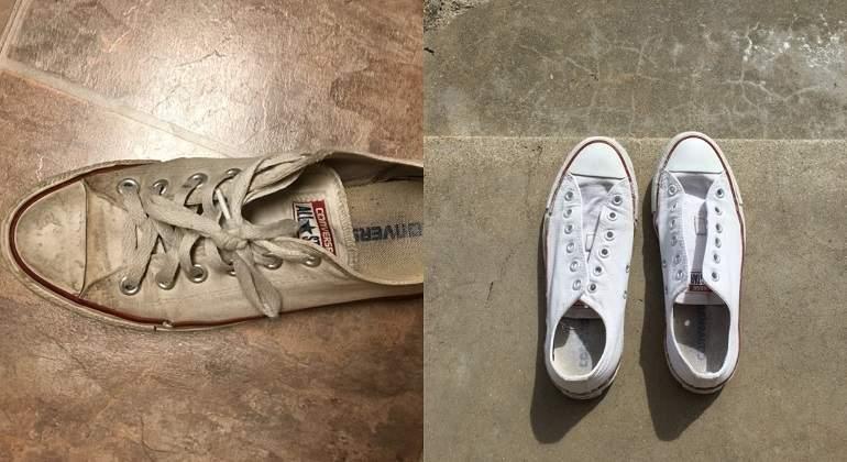 limpiar zapatillas converse player