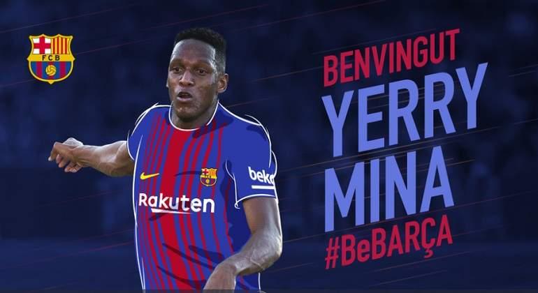 Así fue su presentación oficial con el Barcelona — Yerry Mina