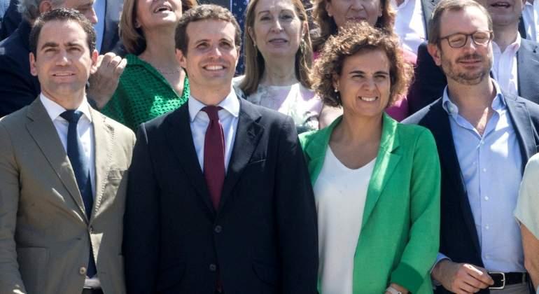 Pablo Casado elige a Teodoro García Egea secretario general del PP y a Dolors Montserrat portavoz en el Congreso