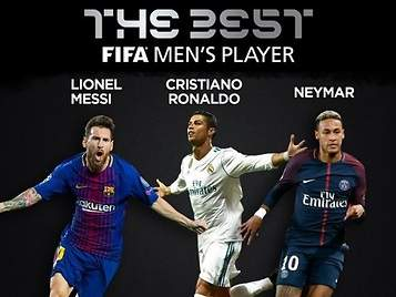 Cristiano Ronaldo, Leo Messi y Neymar, finalistas del premio The Best de la FIFA