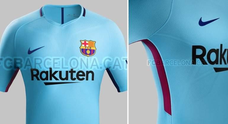 El Barcelona presenta su nueva segunda equipación  vuelve el azul 78023ea4893f0