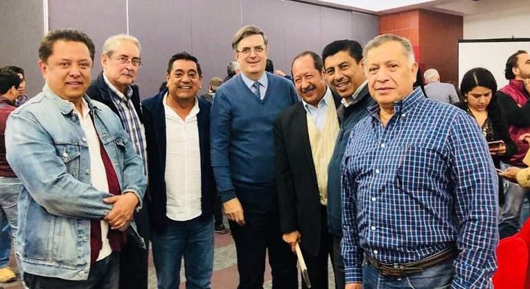 Marcelo Ebrard reaparece en reunión del CEN de Morena