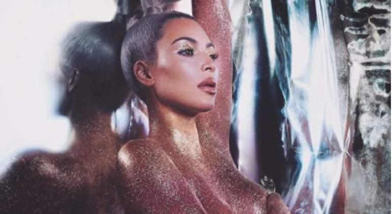 c20c3684e Kim Kardashian, su brillante desnudo arrasa en las redes - Informalia.es