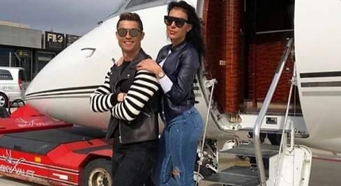 Cristiano se escapa en su jet privado con Georgina