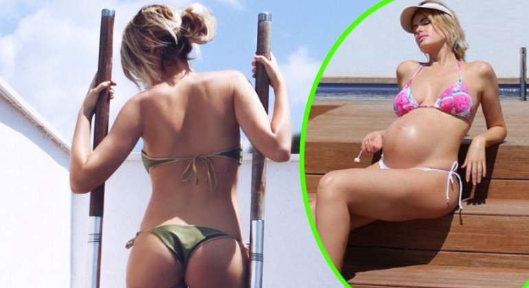 Adriana Abenia Luce Figura En Bikini En Su Octavo Mes De Embarazo