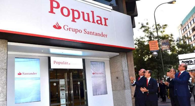 Popular y pastor llevar el apellido de banco santander en for Santander cajeros madrid