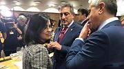 La ministra Carolina Darias y el vicepresidente de Canarias Romn Rodrguez