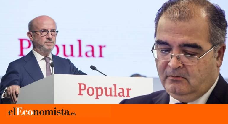 Los expresidentes de Popular Saracho y Ron declararán en octubre en el juicio que investiga la caída de la entidad