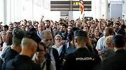 El soberanismo colapsa los accesos al aeropuerto, pero no bloquea Cataluña