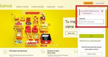 El acceso online para clientes de Bankia no funciona y deja a miles de usuarios desconectados