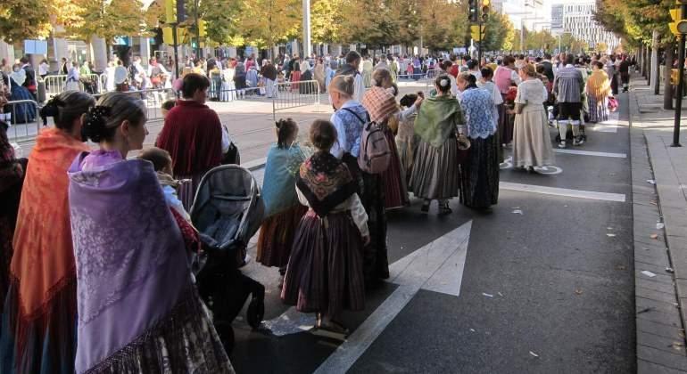 Casi 800 grupos culturales participarán en la ofrenda floral a la Virgen del Pilar en Zaragoza