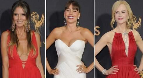 Nicole, Sofía o Heidi: escotazos en los Emmy