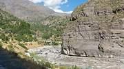 Ro Maipo en el Can de Maipo en los Andes cerca de Santiago de Chile