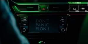 El troleo de Skoda a Tesla mandando un Superb a Marte