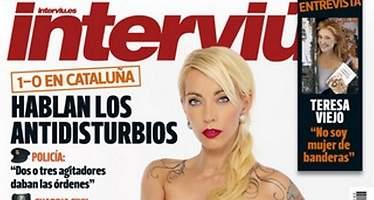 13manías, administrativa y modelo, desnuda en la portada de Interviú
