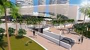 Recreacin del proyecto inmobiliario y comercial de Mestalla EE