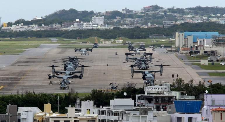 Un avión militar de EEUU se estrella frente a la isla japonesa de Okinawa con 11 personas a bordo