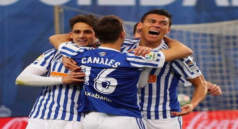 Héctor Moreno anotó su primer gol con la Real Sociedad