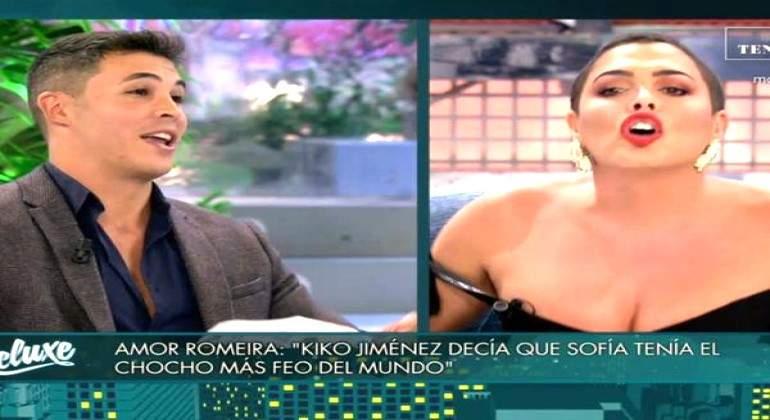 Amor Romerira en el 'Deluxe': ''Kiko Jiménez decía que Sofía tenía el chocho más feo del mundo''