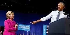 Obama ensalza a Clinton como única alternativa sana y cuerda a la Casa Blanca