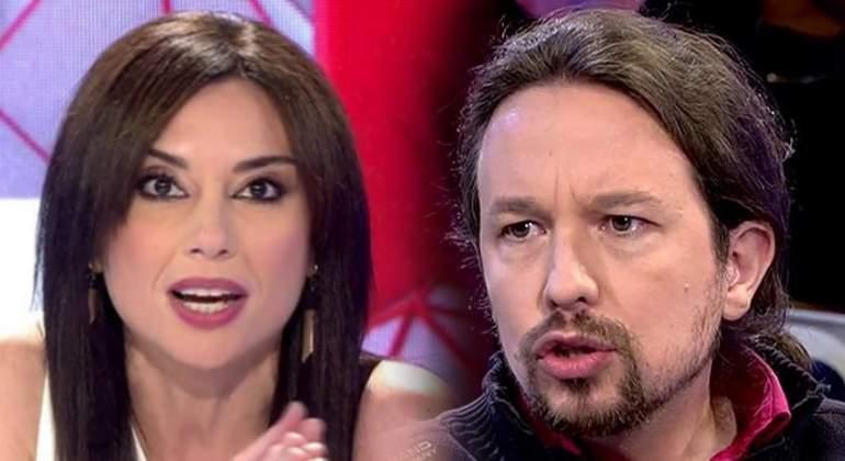 """Pablo Iglesias dice que la pregunta del sofá de Marta Flich """"no estuvo bien"""" y ella contesta: """"Fue ironía"""""""