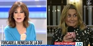 Ana Rosa regaña a Mayka Navarro por ligar con un político