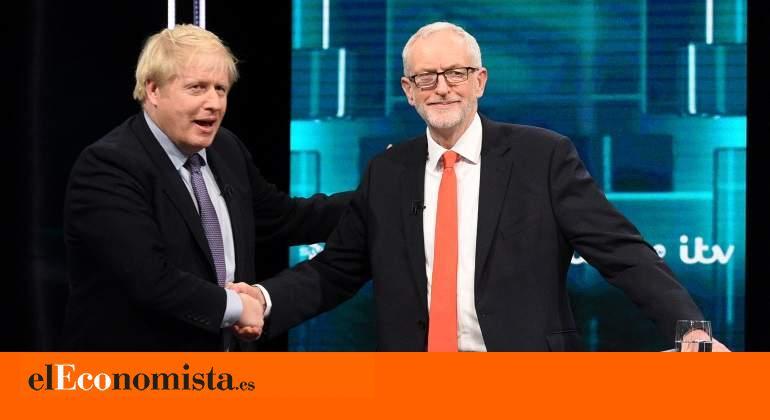 El plomizo debate británico, entre las evasivas de Corbyn y el 'disco rayado' de Johnson sobre el Brexit