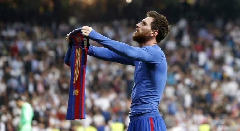 La polmica celebracin de Leo Messi reivindicndose ante el