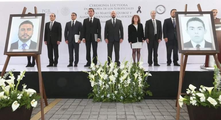 PGR rinde homenaje a agentes secuestrados y asesinados