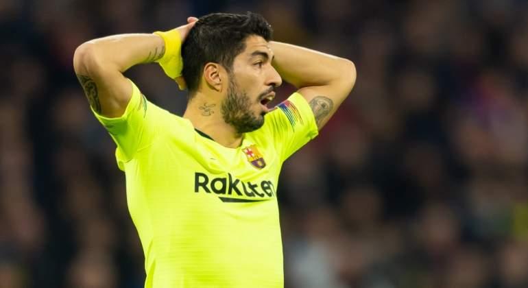 Luis Suárez se queda sin pólvora en la Champions  una maldición que dura  más de tres años lejos del Camp Nou 279d1e8ade7ec