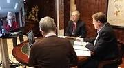 Puig en videoconferencia con la consellera de Sanidad EE