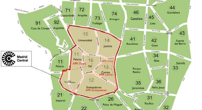 Zona Ser Madrid Mapa 2019.Madrid Central Asi Son Las Sanciones Por Circular Sin