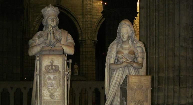 Tumba de Liuis XV y María Antonieta en Saint Denis