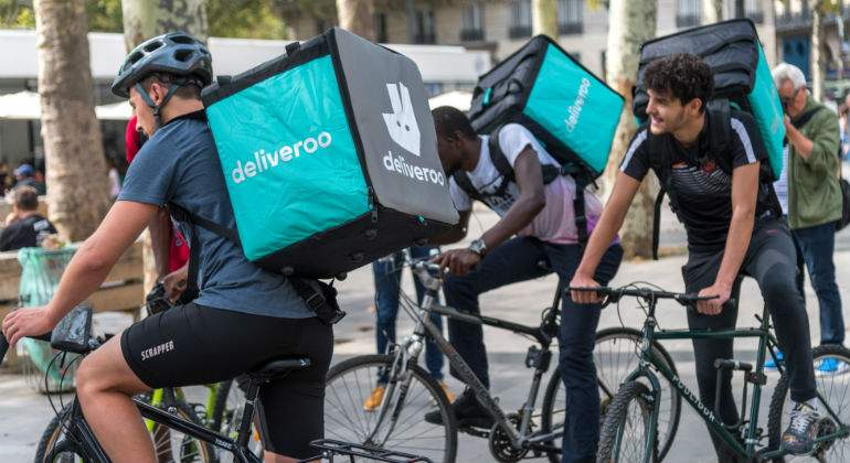 Los riders piden una censura legal al modelo de Deliveroo