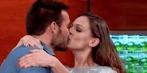 El sorprendente besazo de Eva González a Saúl Craviotto en Masterchef