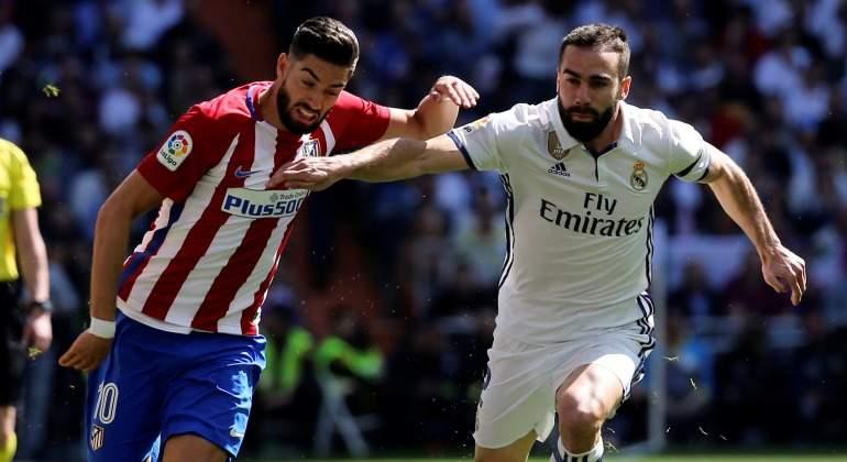 Carrasco se lesiona en la clavícula y es seria duda para jugar la Champions  contra el Real Madrid 9cd7c7eebb89b