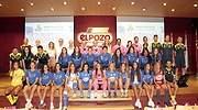 Equipo CF femenino Alhama ElPozo en la presentacin de la pasada temporada