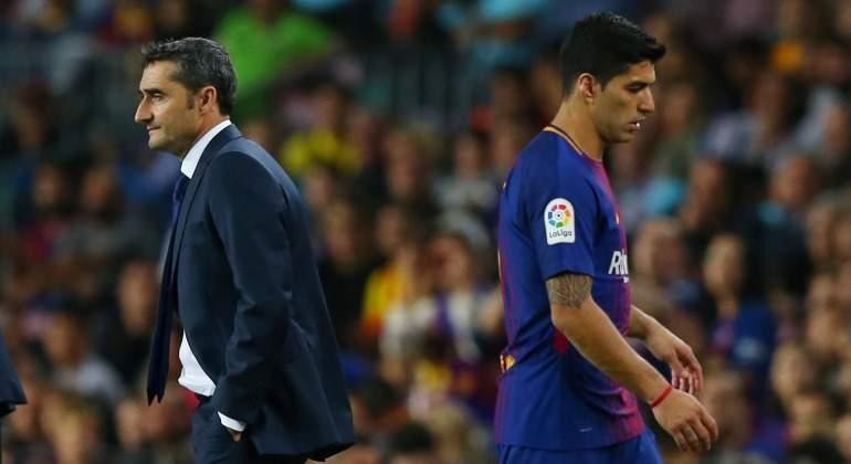 Valverde pasa de las malas caras de Suárez